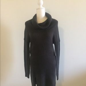Wild Pearl cowl neck sweater dress